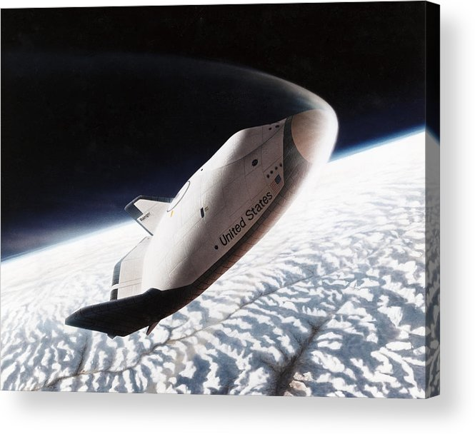 1996 Acrylic Print featuring the photograph Nasa: Crew Return Vehicle by Granger