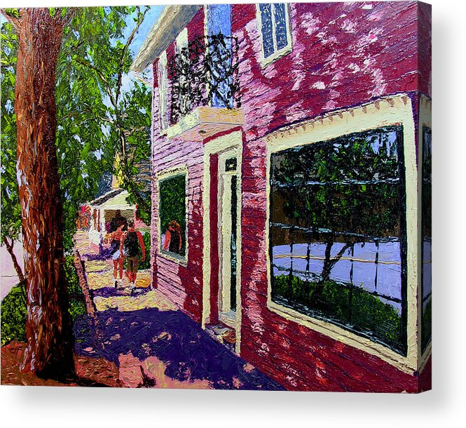 Pallet Knife Acrylic Print featuring the painting Nashville Upside Down by Stan Hamilton