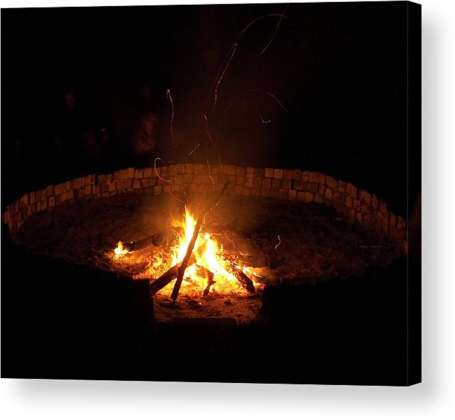 Fire Circle Acrylic Print featuring the photograph Night Done Right by Charles Peck