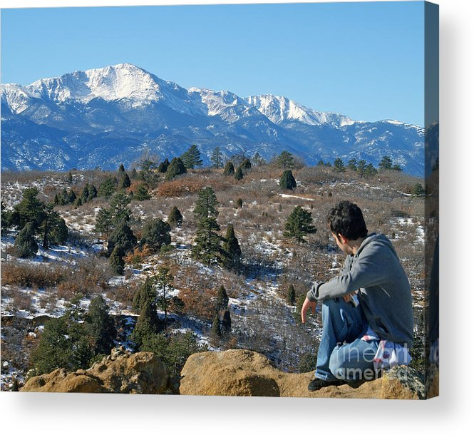 Colorado Acrylic Print featuring the photograph No room but has a View by Jack Norton