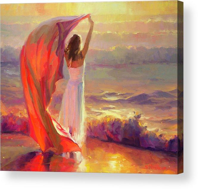 Ocean Acrylic Print featuring the painting Ocean Breeze by Steve Henderson