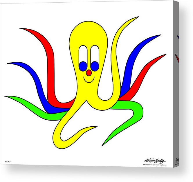 Acrylic Print featuring the digital art Octo-Pus the Cuttlefish by Asbjorn Lonvig