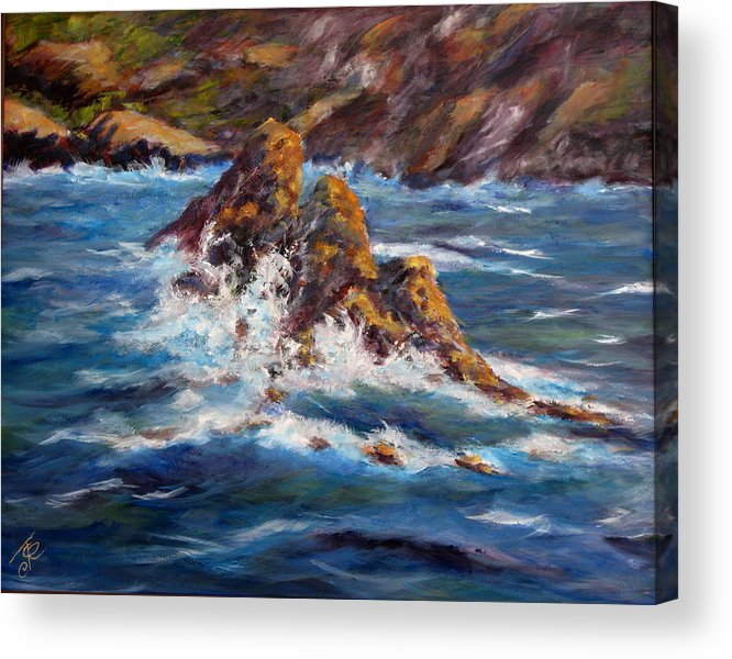 Sea Coast Acrylic Print featuring the painting Pacific Coast by Thomas Restifo