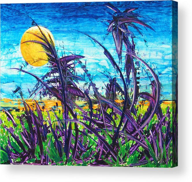 Landscape Acrylic Print featuring the painting Patch Of Field Grass by Rollin Kocsis