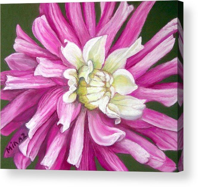 Floral Acrylic Print featuring the painting Pink Petal Blast by Minaz Jantz