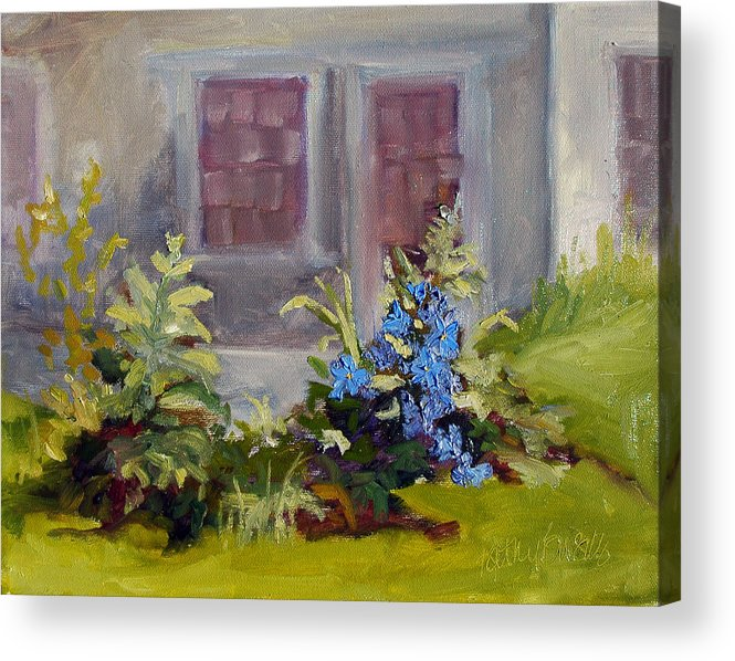 Clematis Acrylic Print featuring the painting Poison Ivy and Clematis by Kathy Busillo