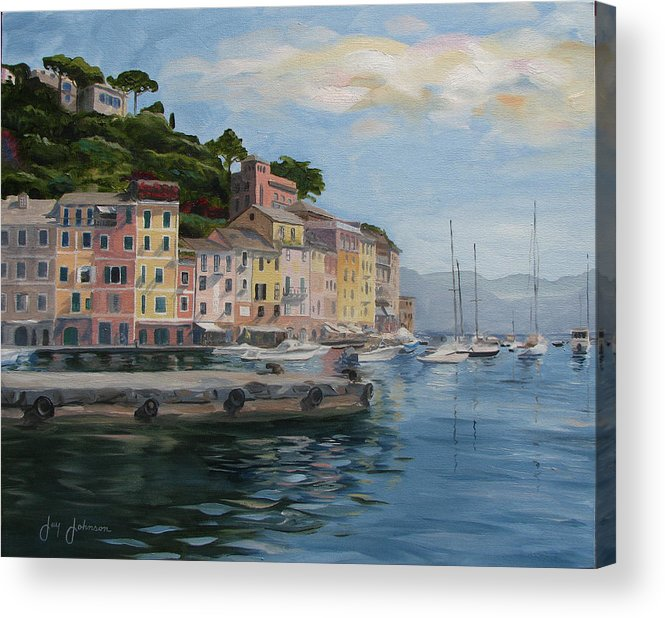 Acrylic Print featuring the painting Portofino Port by Jay Johnson