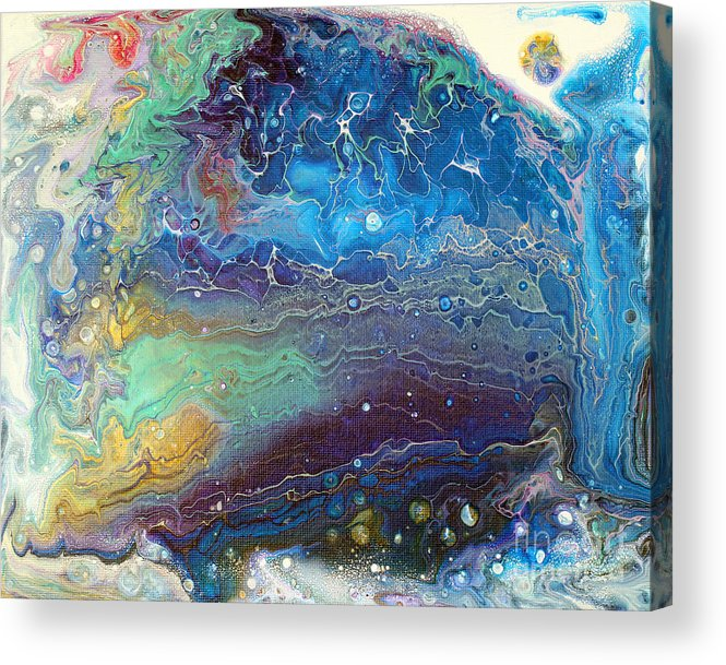 Poured Acrylic Print featuring the painting Poured Painting 5 by Laura Tasheiko