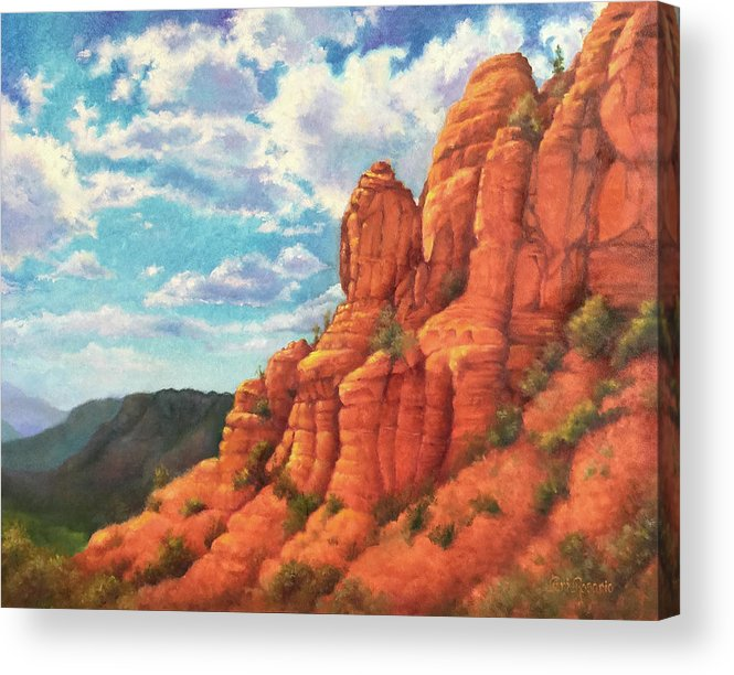 Sedona Acrylic Print featuring the painting Red Rocks by Teri Rosario