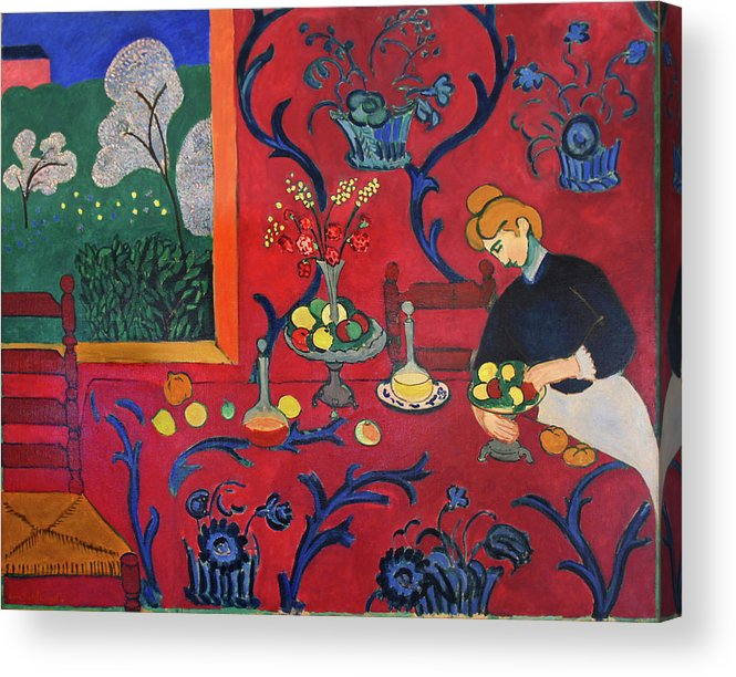 Henri Matisse Acrylic Print featuring the painting Red Room by Henri Matisse