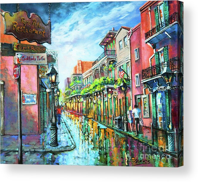New Orleans Acrylic Print featuring the painting Royal Lights by Dianne Parks