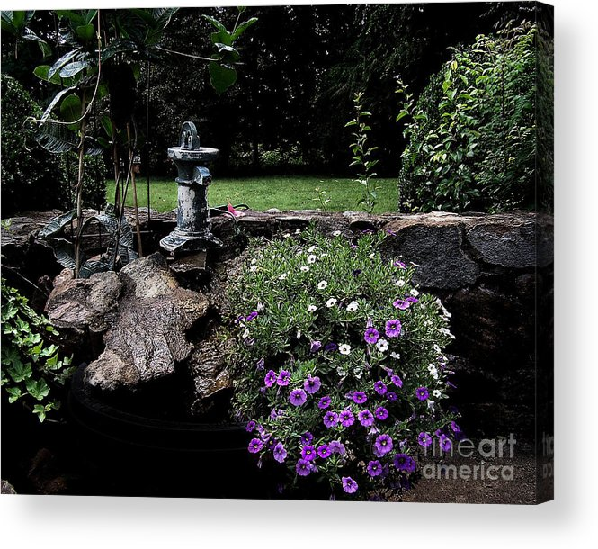 Porch Acrylic Print featuring the photograph Scotopic Vision 2 - The Porch by Pete Hellmann