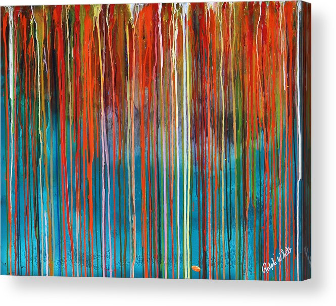 Fusionart Acrylic Print featuring the painting Seed by Ralph White