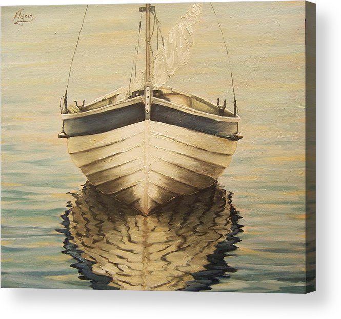 Seascape Acrylic Print featuring the painting Serenity by Natalia Tejera