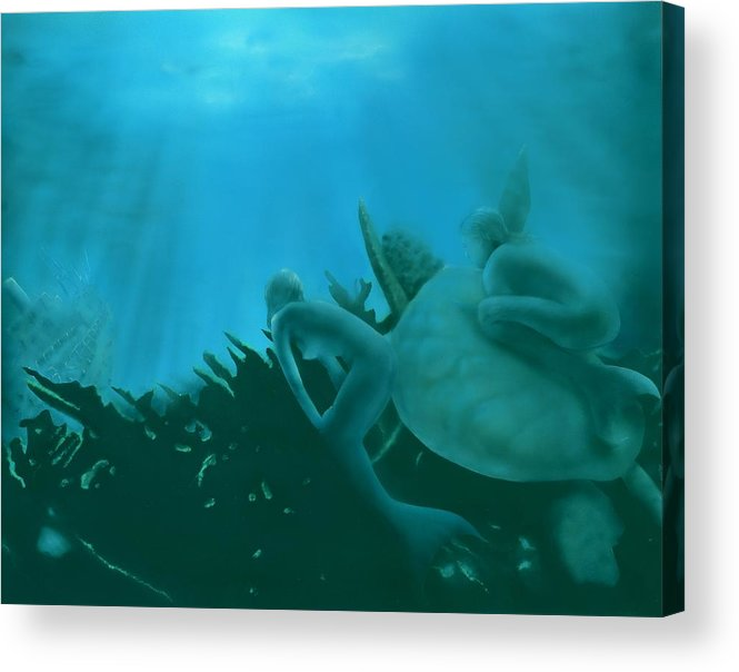 Shipwreck Acrylic Print featuring the painting Ship Wreck by Charles Parks