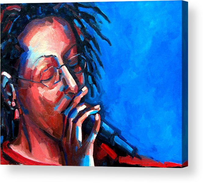 Portrait Acrylic Print featuring the painting Since I Fell For You by Jackie Merritt