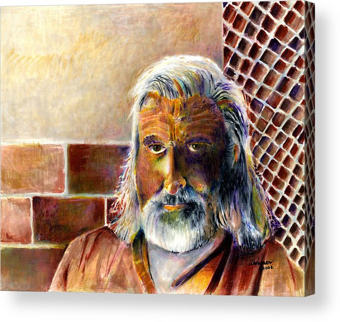 Man Acrylic Print featuring the painting Solitary by Arline Wagner