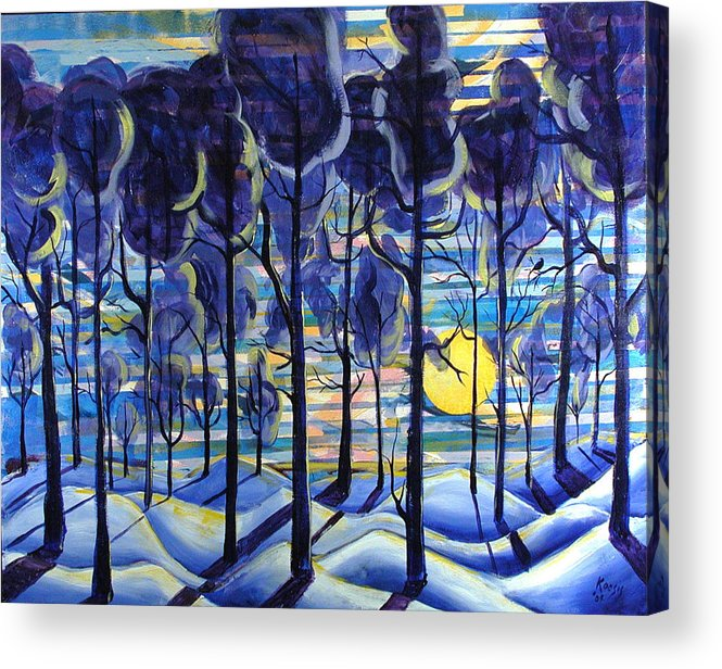 Landscape Acrylic Print featuring the painting Solitude by Rollin Kocsis