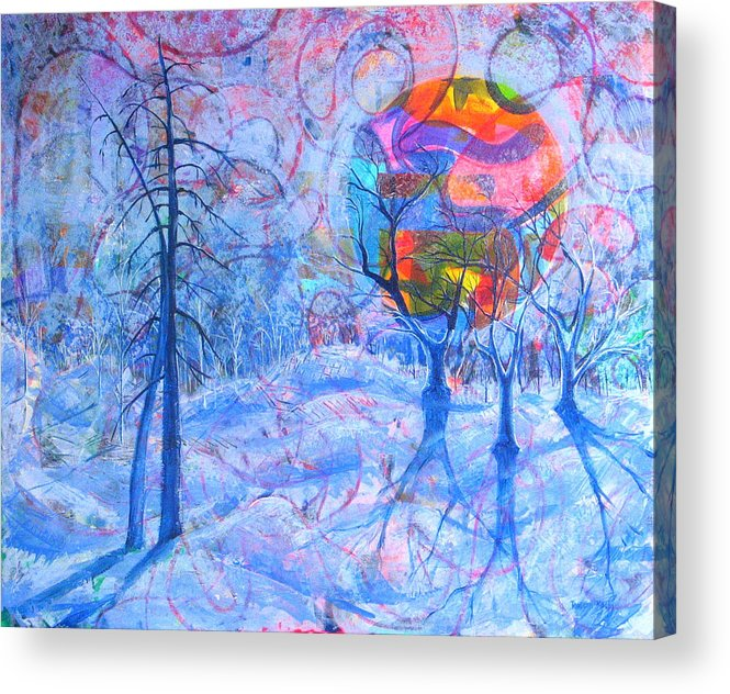 Winter Acrylic Print featuring the painting Solstice by Rollin Kocsis