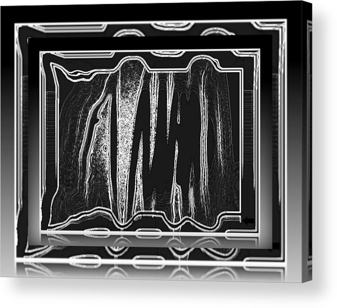 The Voice Software Acrylic Print featuring the digital art Sonic Radar Art No 1 by Joan Kamaru