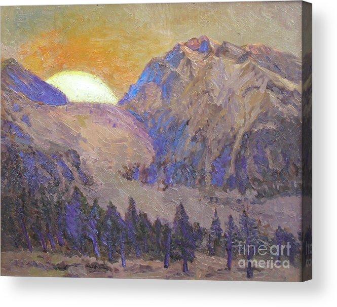 Sunrise Acrylic Print featuring the painting Sunrise by Meihua Lu