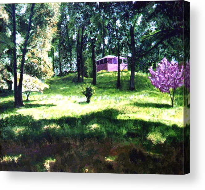 Landscape Acrylic Print featuring the painting T C Steel by Stan Hamilton