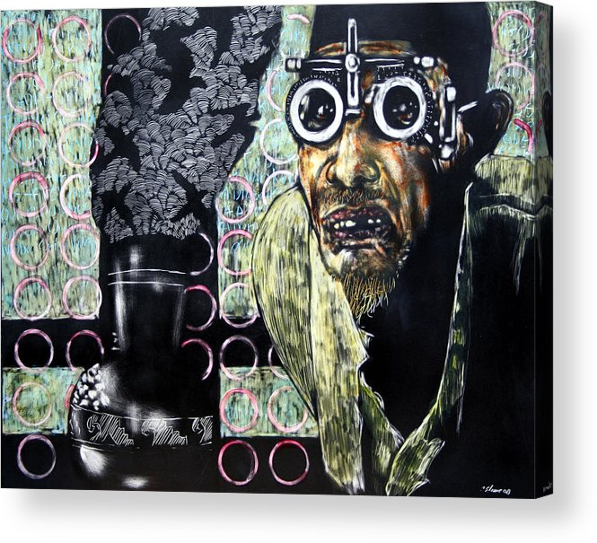 Scratchboard Acrylic Print featuring the mixed media The Alchemist by Chester Elmore