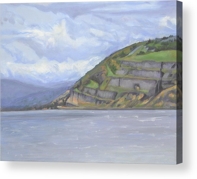The Columbia River Gorge Acrylic Print featuring the painting Heart of the Gorge by Mary Chant