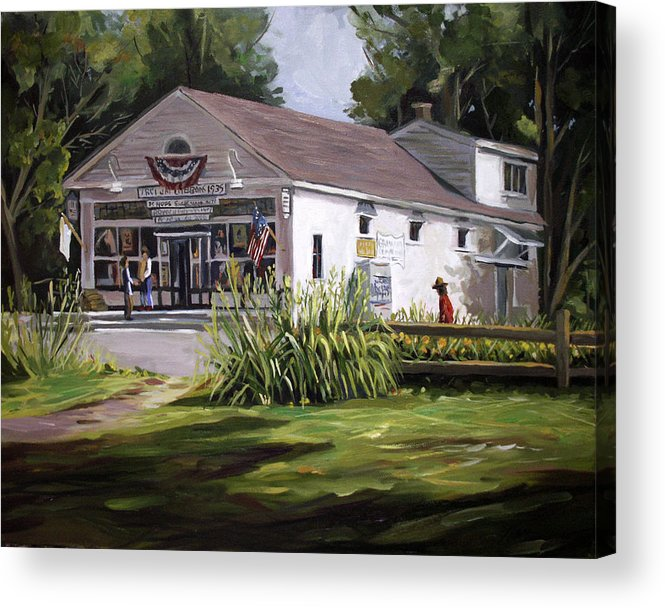 Buildings Acrylic Print featuring the painting The Country Store by Nancy Griswold