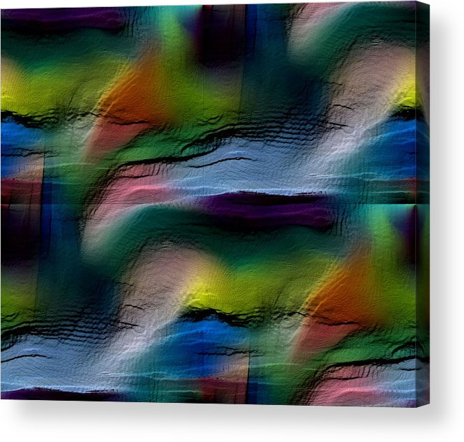 Abstract Acrylic Print featuring the digital art The Future Looks Bright by Ruth Palmer