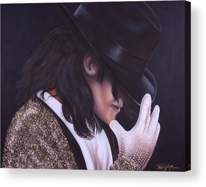 The King Of Pop Acrylic Print featuring the painting The King of Pop by Darren Robinson