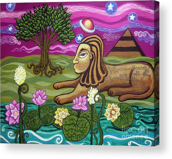 Egypt Acrylic Print featuring the painting The Sphinx by Genevieve Esson