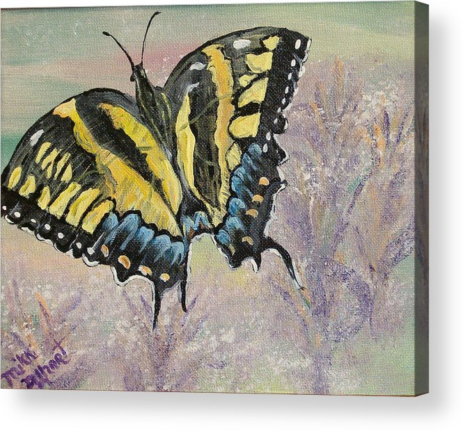 Butterfly Acrylic Print featuring the painting Tiger Swallowtail by Mikki Alhart