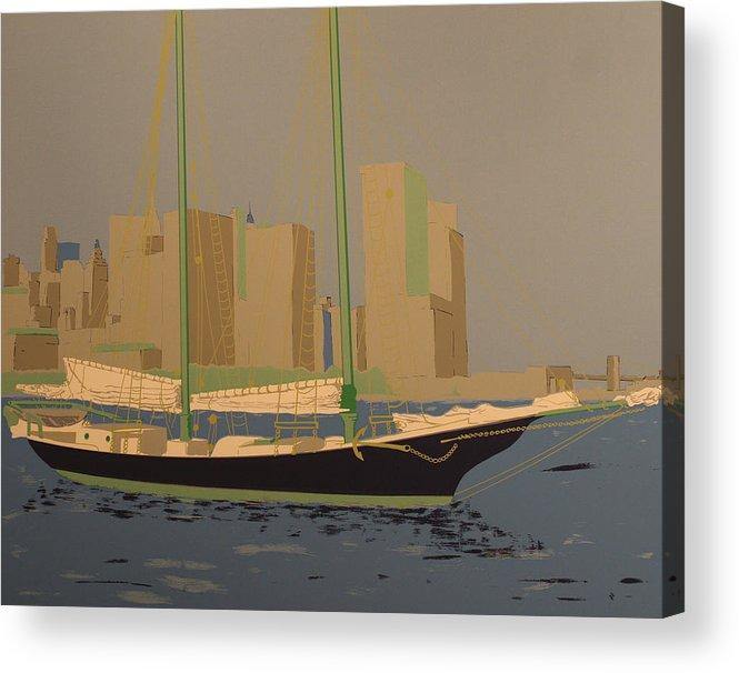 Acrylic Print featuring the painting Two Masts by Biagio Civale