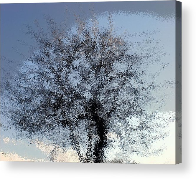 Trees Acrylic Print featuring the digital art Water tree by Philip Okoro