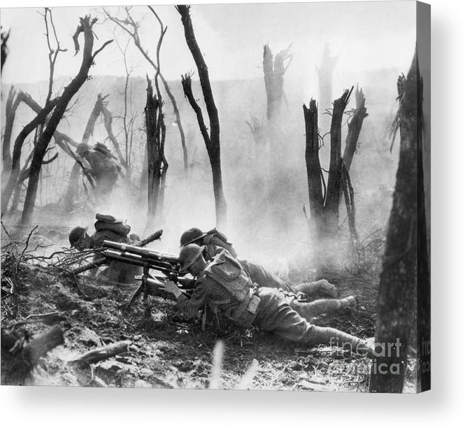 1918 Acrylic Print featuring the photograph World War I: Battlefield by Granger