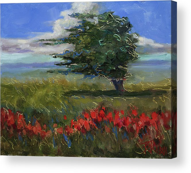 Windy Day Acrylic Print featuring the painting Wyoming Gentle Breeze by Billie Colson