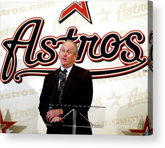 Sport Acrylic Print featuring the photograph Houston Astros Sign Nolan Ryan To by Bob Levey
