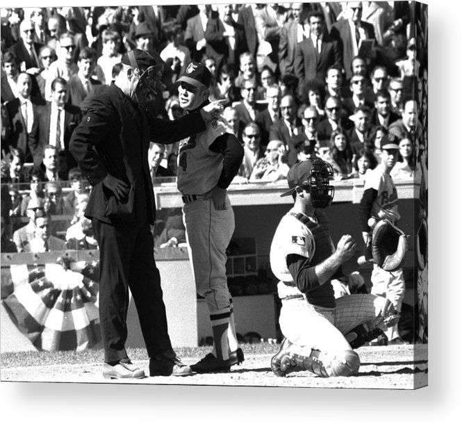 American League Baseball Acrylic Print featuring the photograph N.y. Mets Vs. Baltimore Orioles. 1969 by New York Daily News Archive