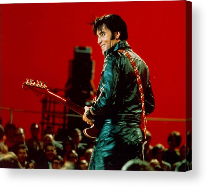 People Acrylic Print featuring the photograph Rock And Roll Musician Elvis Presley by Michael Ochs Archives
