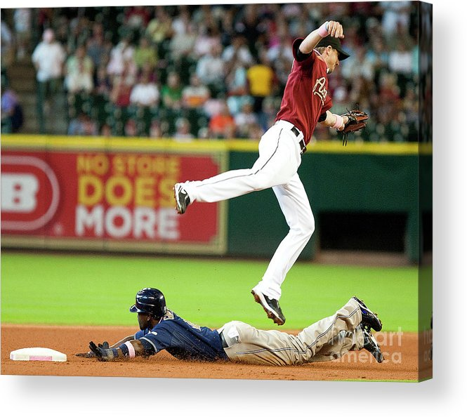 Tony Gwynn Jr. Acrylic Print featuring the photograph San Diego Padres V Houston Astros by Bob Levey