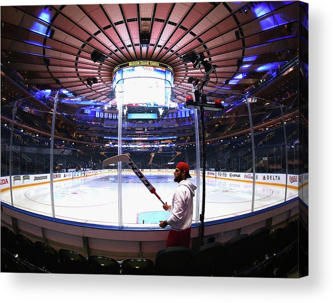 Playoffs Acrylic Print featuring the photograph Washington Capitals V New York Rangers by Bruce Bennett