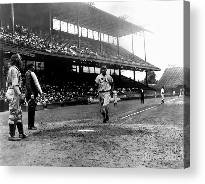 Scoring Acrylic Print featuring the photograph National Baseball Hall Of Fame Library by National Baseball Hall Of Fame Library