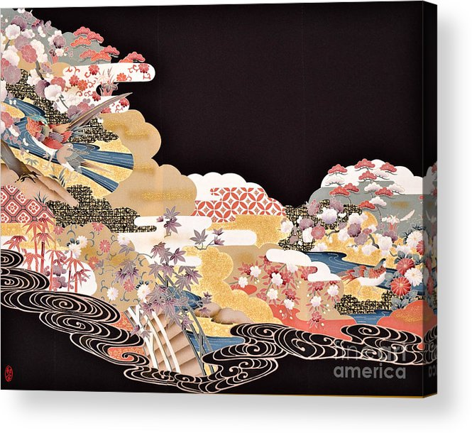 Acrylic Print featuring the digital art Spirit of Japan T65 by Miho Kanamori