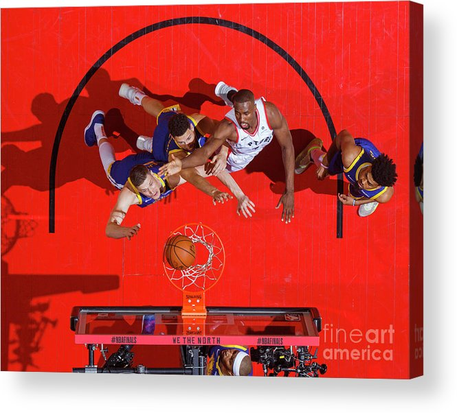 Playoffs Acrylic Print featuring the photograph 2019 Nba Finals - Golden State Warriors by Mark Blinch