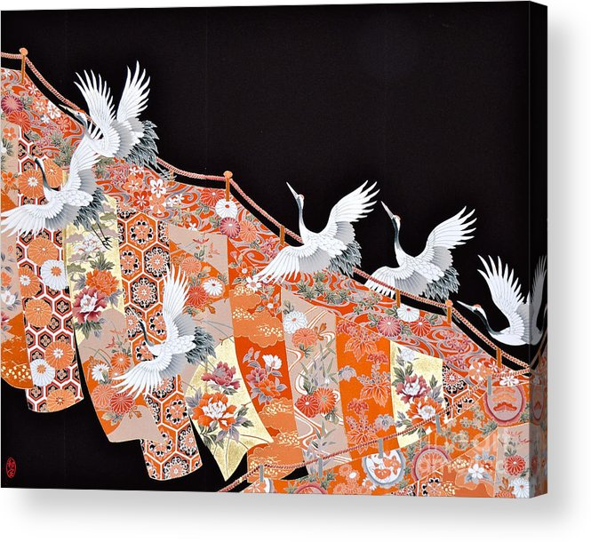 Acrylic Print featuring the digital art Spirit of Japan T42 by Miho Kanamori