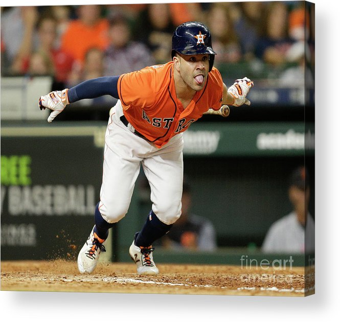 People Acrylic Print featuring the photograph Detroit Tigers V Houston Astros by Bob Levey
