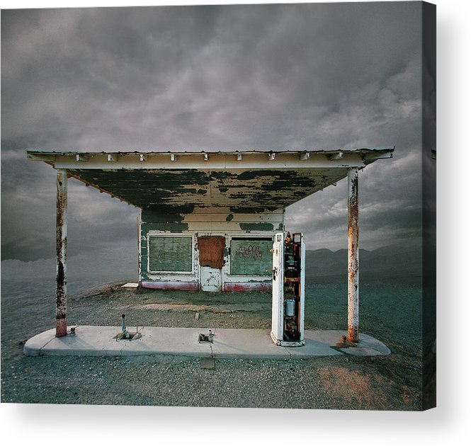 California Acrylic Print featuring the photograph Abandoned Gas Station, Niland Ca by Ed Freeman