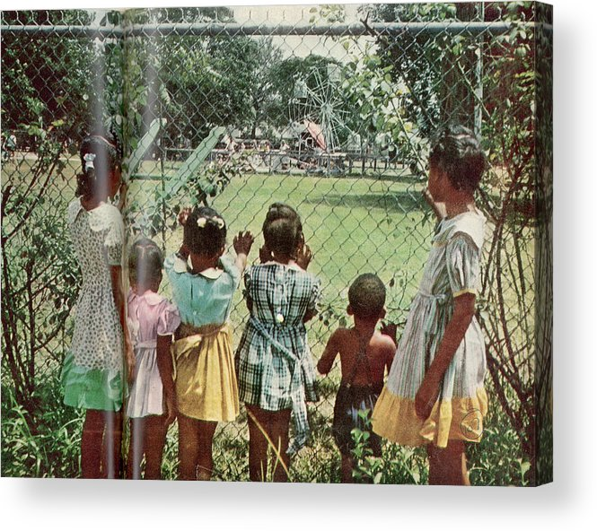 Child Acrylic Print featuring the photograph African American Children Peering by Gordon Parks