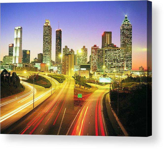 Atlanta Acrylic Print featuring the photograph Atlanta Skyline, Georgia, Usa by Travel Ink